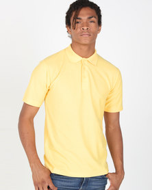 Tee & Cotton Classic Pique Knit Polo Yellow