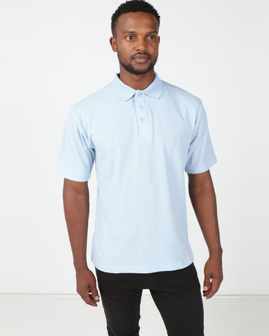 Tee & Cotton Classic Pique Knit Polo Sky