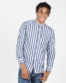 JCrew Bold Stripe Shirt Navy