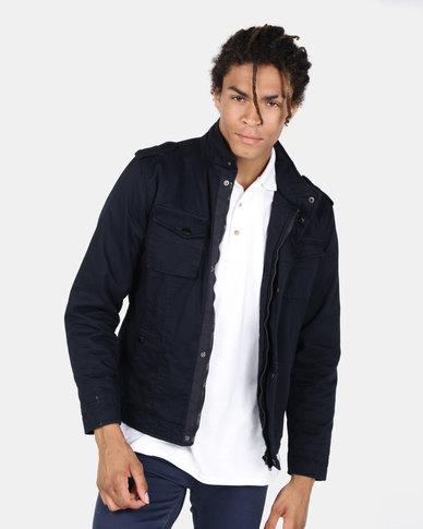 JCrew Harrington Cotton Jacket Navy