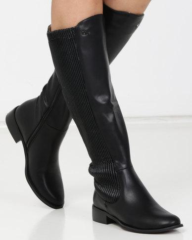PLUM Arizona Long Boots Black