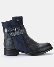 PLUM Romy Ankle Boots Blue