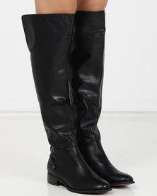 PLUM Twinkle OTK Boots Black