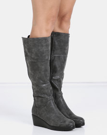 PLUM Lucy Long Boot Grey