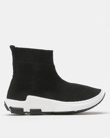 Urban Kulture Sock Boots Black