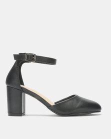 Franco Ceccato Ankle Strap Block Heels Black