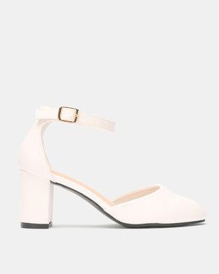 Franco Ceccato Ankle Strap Block Heels White