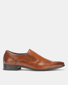 Franco Ceccato Formal Slip On Shoes Tan