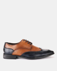 Franco Ceccato Formal Lace Up Tan/Navy