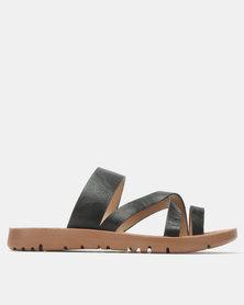 Franco Ceccato Flat Slip On Sandals Black
