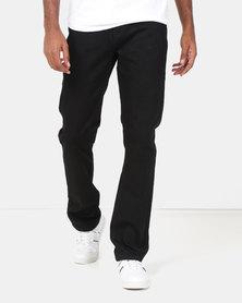 Lee Cooper M Jack Regular Fit Fashion Denim Jeans Black
