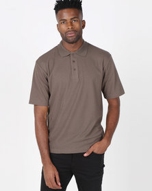 Tee & Cotton Classic Pique Knit Polo Dark Olive