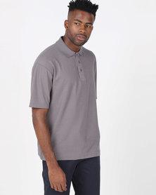 Tee & Cotton Classic Pique Knit Polo Slate Grey