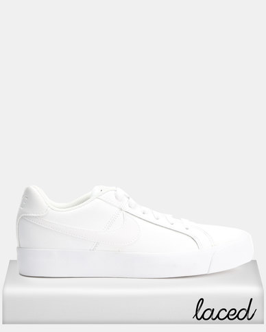 f160c522aa33d Nike Womens Nike Court Royale AC White White-Black