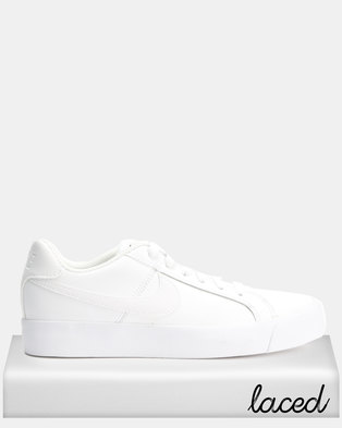 2a8a5719f1f8 Nike Womens Nike Court Royale AC White White-Black