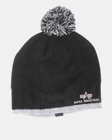 Alpha Industries Ribbed Beanie Black
