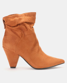 LaMara Pointy Shuffle Ankle Boots