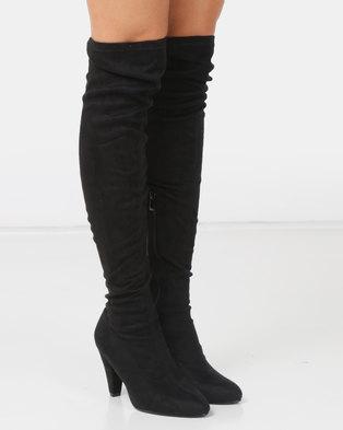 8b76001515a LaMara OTK Boots Black