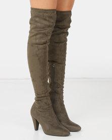 LaMara OTK Boots Green