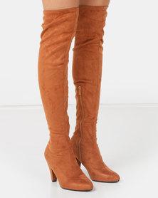 LaMara OTK Boots Brown