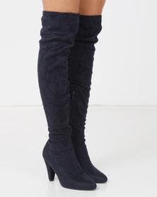 LaMara OTK Boots Blue