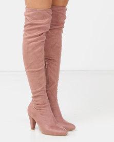 LaMara OTK Boots Pink
