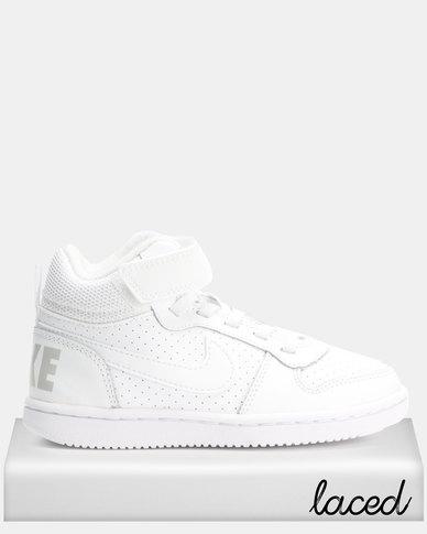 100% authentic ff79a 0cf35 Nike Court Borough Mid BPV Sneakers White   Zando