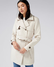 Forever New Aaliyah Trench Coat Stone