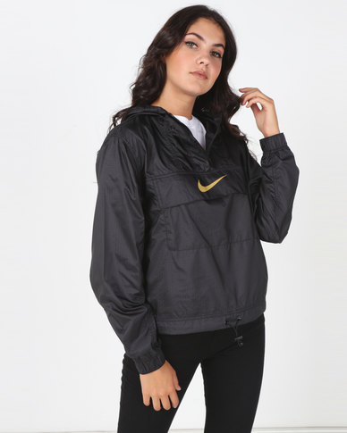 Nike Womens NSW ANML WVN JKT Black