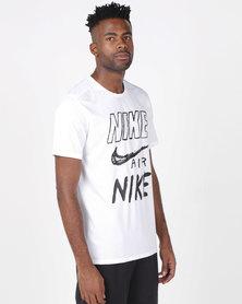 Nike Performance M NK BRTHE Run Short Sleeve Top GX White