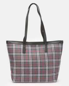Blackcherry Bag Check Shopper Bag Grey/Black