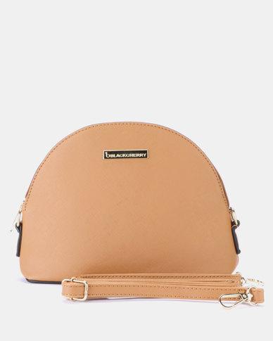 Blackcherry Bag Mini Dome Cross Body Bag Tan