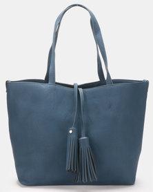 Blackcherry Bag Tasseled Large Shopper Bag Blue