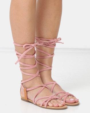 3c6b6053a Legit Lace-up Flat Sandals Blush