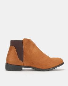 Legit Chelsea Flat Ankle Boots Tan