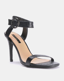 cd017ee563e5 Legit Crossover Ankle Strap Banded Block Heels Navy