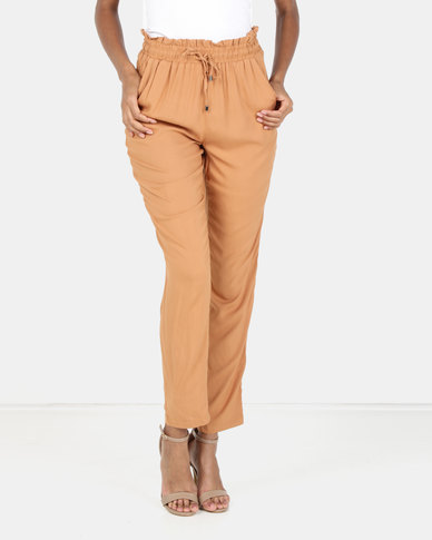 Legit Drapey Tapered Pants Hazelnut