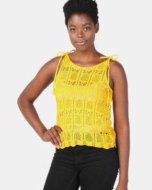 Legit Crotchet Knitwear Tank Mustard