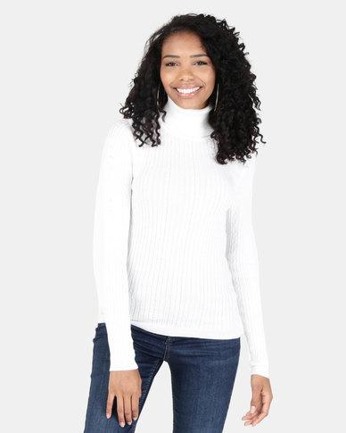 Legit Poloneck Pullover White