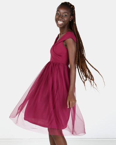 Legit Off The Shoulder Prom Dress Raspberry