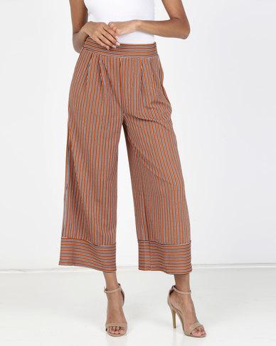 Legit Stripe Knit Culotte Rust