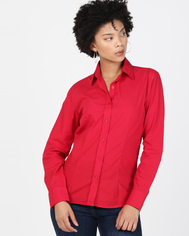 Utopia Basic Long Sleeve Shirt Red