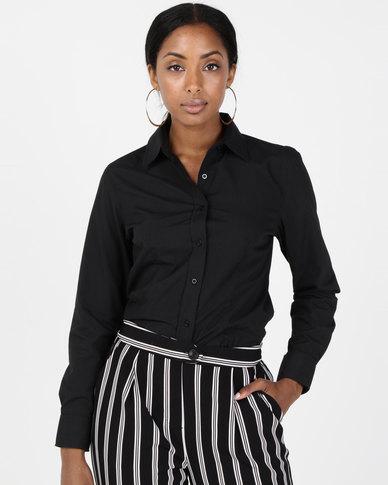 Utopia Black Basic Long Sleeve Shirt