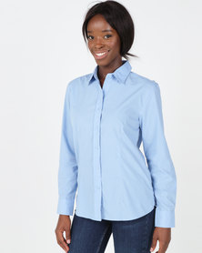 Utopia Sky Blue Basic Long Sleeve Shirt