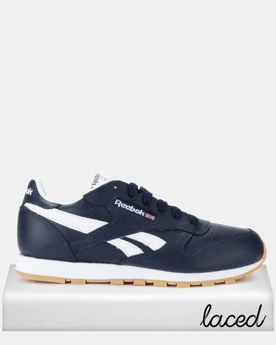 magasin en ligne 440b6 836dd Reebok Classic Leather Sneakers Navy