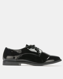 G Couture Patent Lace Up Shoes Black