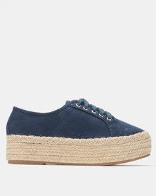 G Couture Flat Form Espadrilles Navy