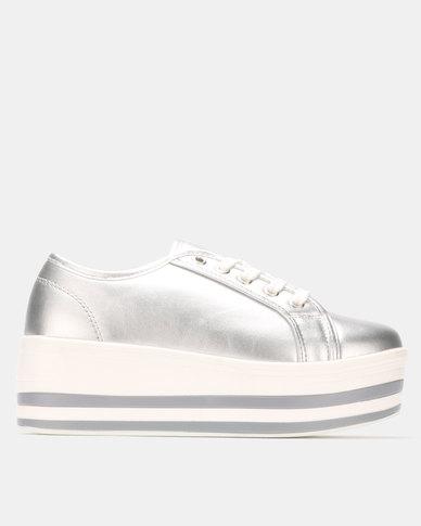 official photos e5e6f 93d47 G Couture Platform Sneakers Silver