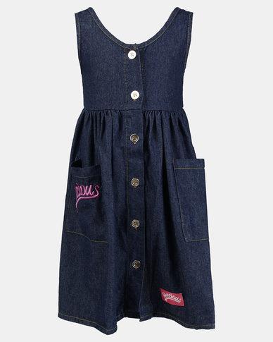 Precious Denim Dress Dark Blue