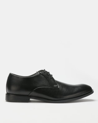 5492099f94b2 Steve Madden Easton Leather Formal Lace Up Black